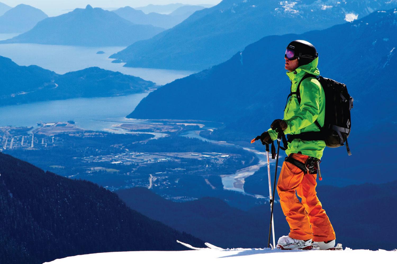 Backcountry skiing on Brohm Ridge Squamish