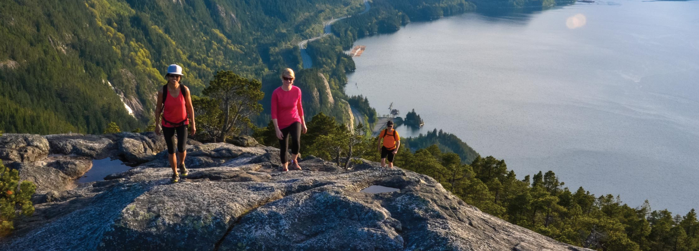 Hikers at Summit of Stawamus Chief in Squamish