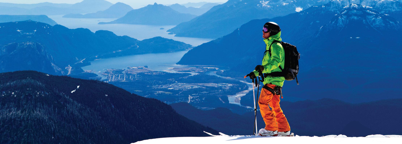 Backcountry Skiing on Brohm Ridge in Squamish, BC