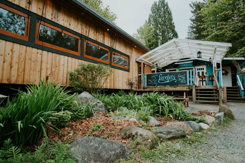 Fergie's Cafe at Sunwolf Riverside Resort, Squamish BC
