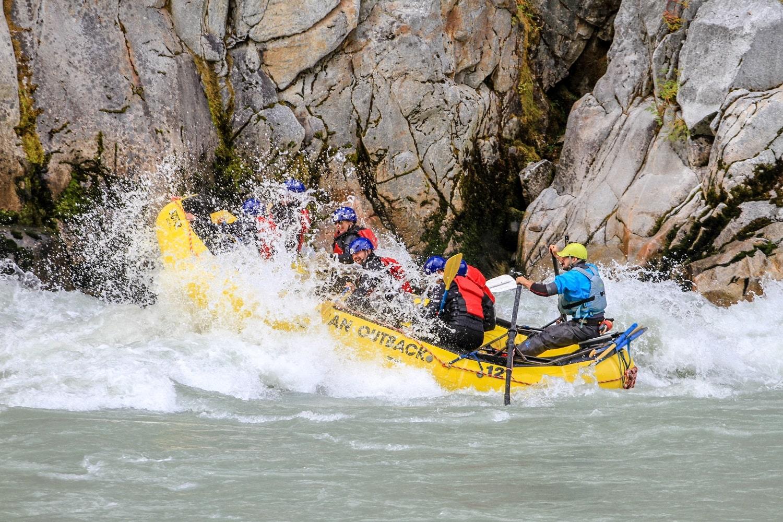 raft in rapids
