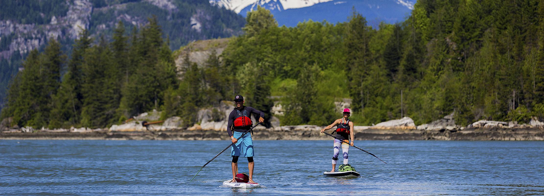 Paddleboarding in Squamish
