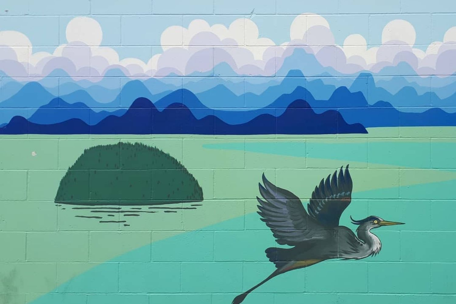 Blue Heron Street Art