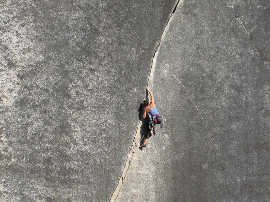 Crack climbing Squamish