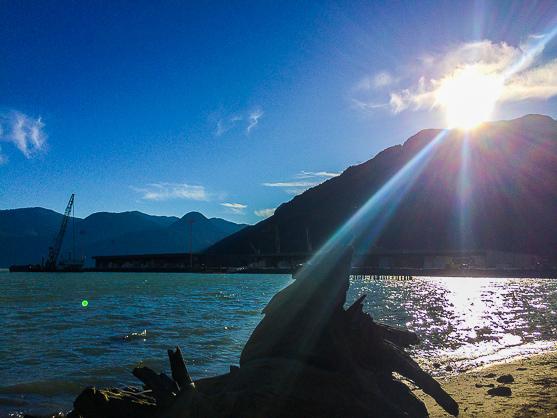 Sunshine on the Ocean in Squamish