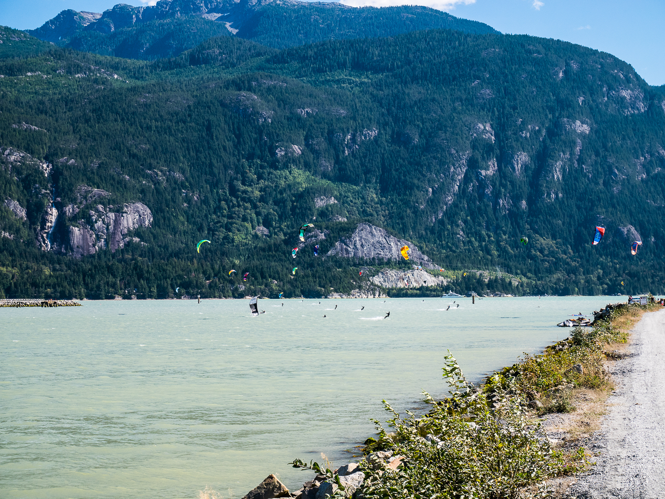 Kiteboarding in Squamish