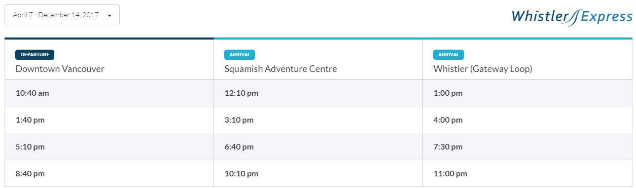 Transportation to Squamish BC