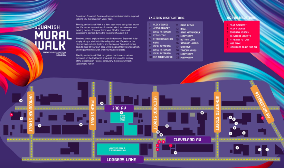 Mural Walk Map